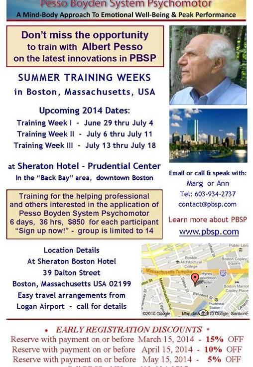Summer PBSP Training Weeks with AlbertPesso
