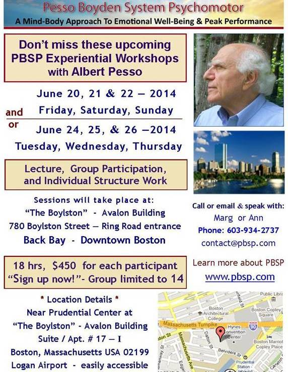 June Experiential PBSP Workshops with Albert Pesso