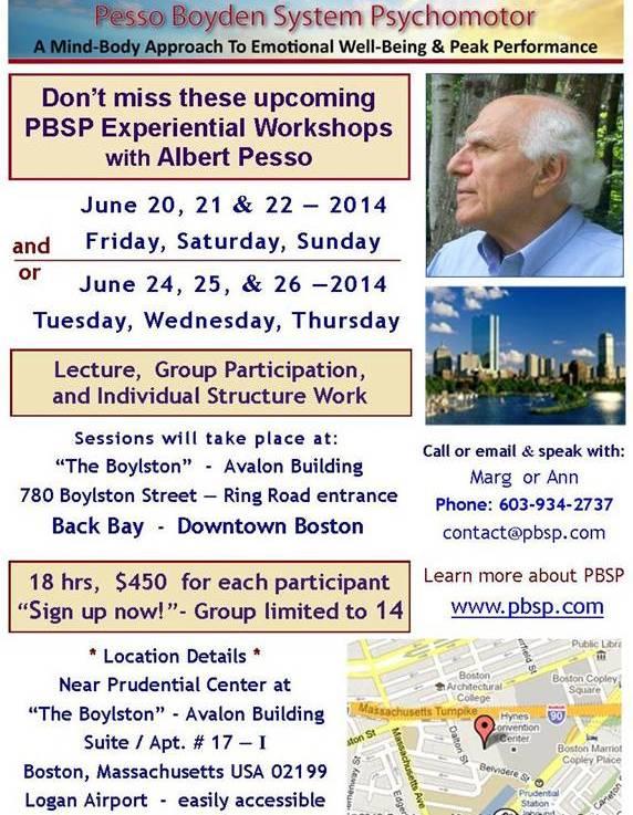 June Experiential PBSP Workshops with AlbertPesso